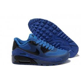 Nike Air Max 90 Hyperfuse Blue Black мужские кроссовки
