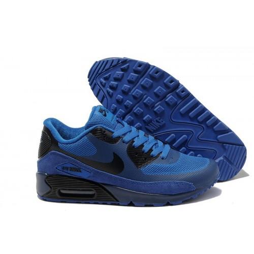 Nike Air Max 90 Hyperfuse Blue Black мужские АирМаксы