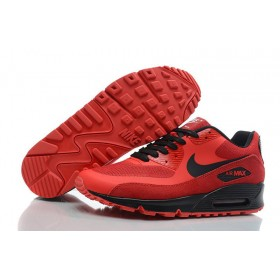 Nike Air Max 90 Hyperfuse Red Black мужские кроссовки