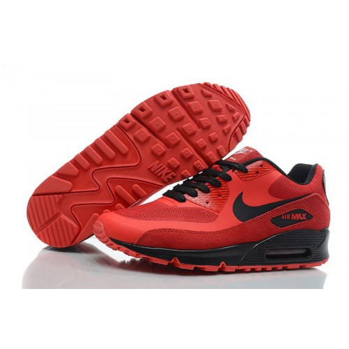 Nike Air Max 90 Hyperfuse Red Black мужские АирМаксы