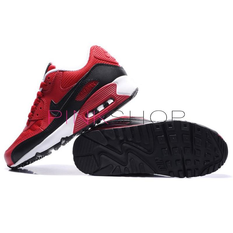 Nike Air Max 90 White Black Red мужские АирМаксы