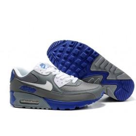 Nike Air Max 90 Grey Blue White мужские кроссовки