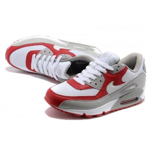 Nike Air Max 90 White Red мужские АирМаксы