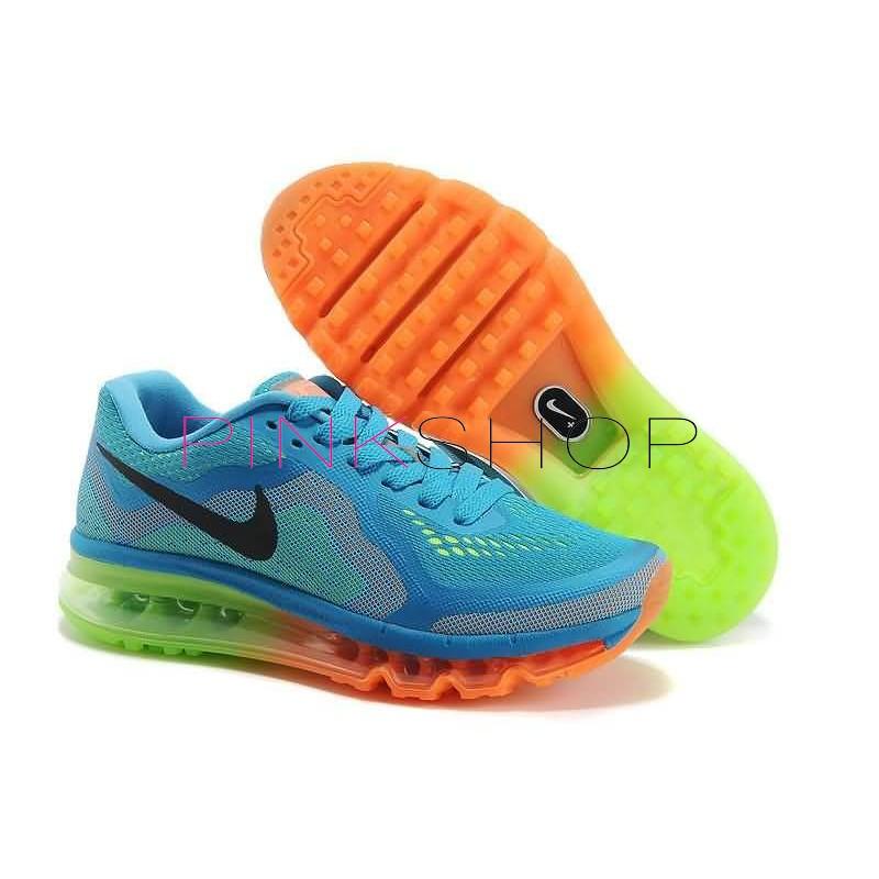 6b401e62 Женские кроссовки Nike Air Max 2014 Sea Blue Orange/Green в Киеве ...
