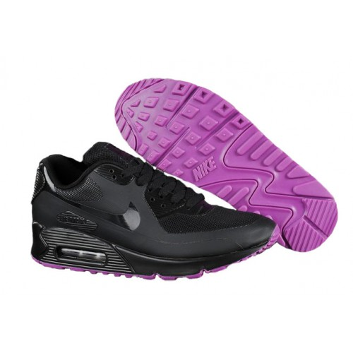Nike Air Max 90 Hyperfuse Black женские АирМаксы