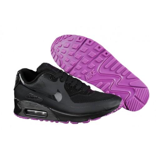 Nike Air Max 90 Hyperfuse Black женские АирМаксы