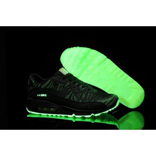 Nike Air Max 90 Glow In The Dark Black мужские АирМаксы