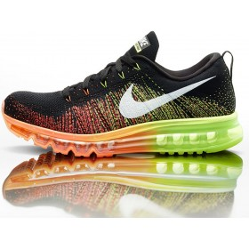 Nike Flyknit Air Max Black Orange мужские кроссовки