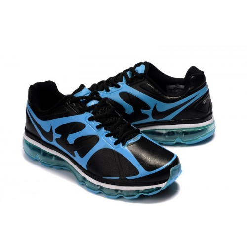Nike Air Max 2012 Blue Black Leather мужские кроссовки