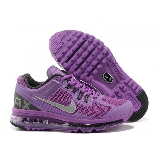Nike Air Max 2013 Black Purple женские АирМаксы