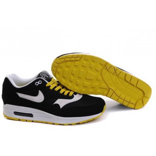 Nike Air Max 87 Black Yellow мужские АирМаксы