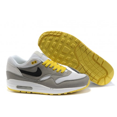 Nike Air Max 87 White Yellow мужские АирМаксы
