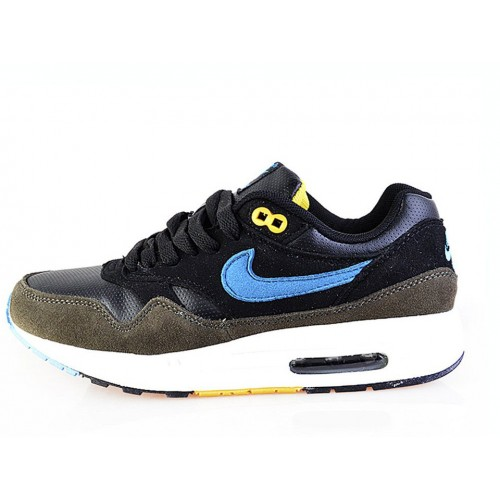Nike Air Max 87 Black Brown Blue женские кроссовки