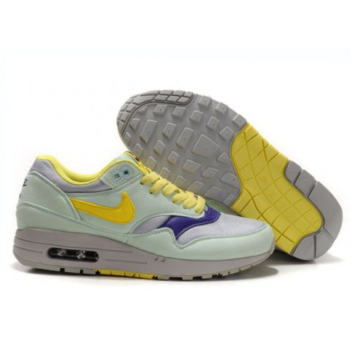 Nike Air Max 87 Yellow Grey Green женские АирМаксы
