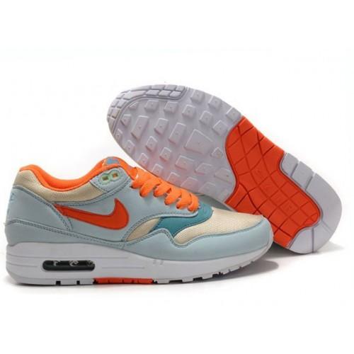 Nike Air Max 87 Orange Green White женские АирМаксы