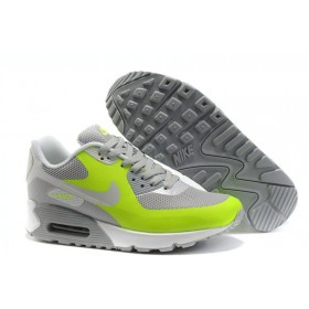 Nike Air Max 90 Hyperfuse Grey Green женские кроссовки