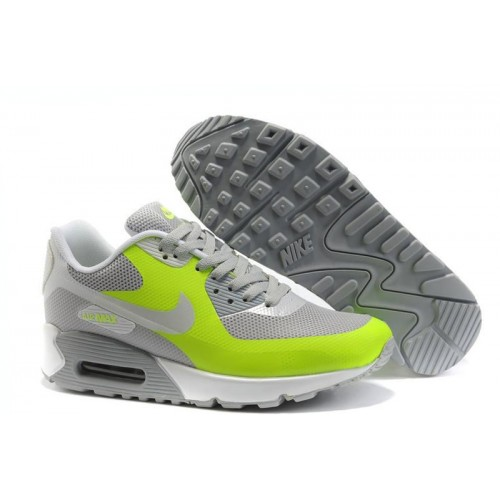 Nike Air Max 90 Hyperfuse Grey Green женские АирМаксы