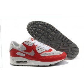 Nike Air Max 90 Hyperfuse Red White женские кроссовки