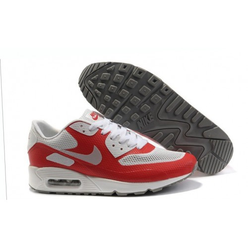 Nike Air Max 90 Hyperfuse Red White женские АирМаксы