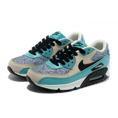 Nike Air Max 90 Grey Blue Black женские АирМаксы
