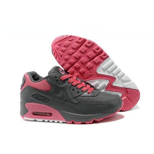 Nike Air Max 90 Grey Pink женские АирМаксы