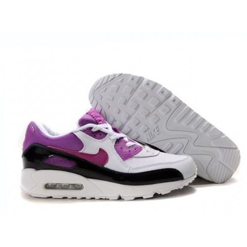 Nike Air Max 90 White Purple женские кроссовки