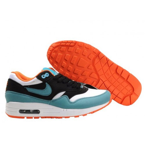 Nike Air Max 87 Orange Green Black женские АирМаксы
