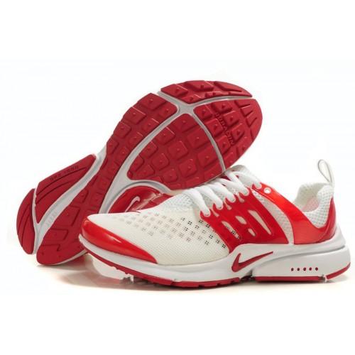 Nike Air Presto White Red женские кроссовки для бега