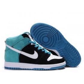 Nike Dunk High Blue Black женские кроссовки