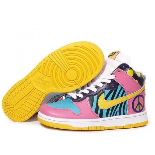 Nike Dunk High Pink женские кроссовки