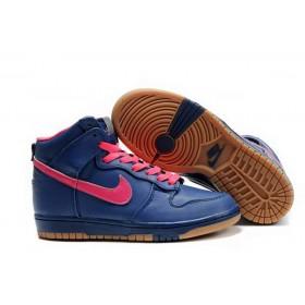 Nike Dunk High Blue Pink женские кроссовки