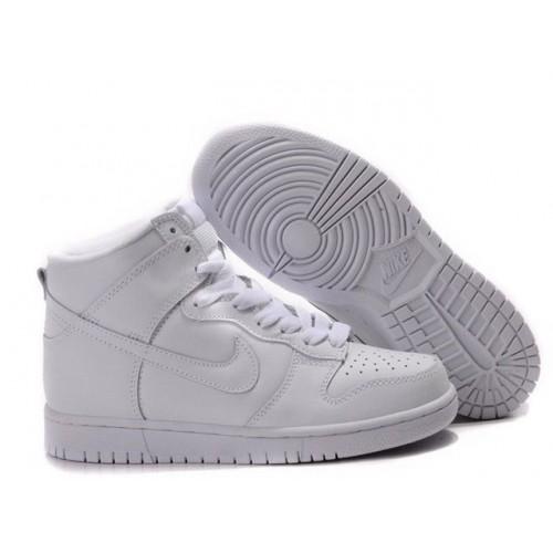 Nike Dunk High White женские кроссовки