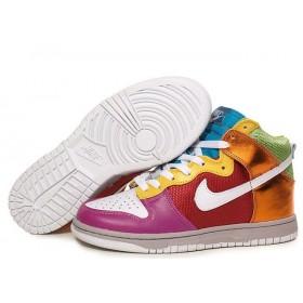 Nike Dunk High Rainbow женские кроссовки