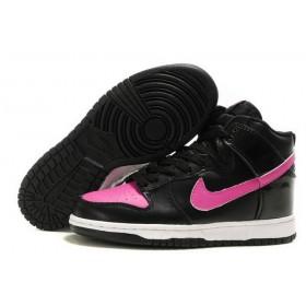 Nike Dunk High Black Pink женские кроссовки