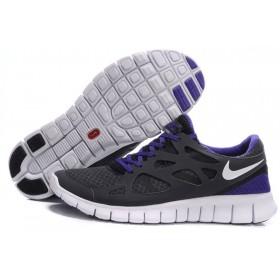 Nike Free Run Plus 2 Grey Blue женские кроссовки для бега