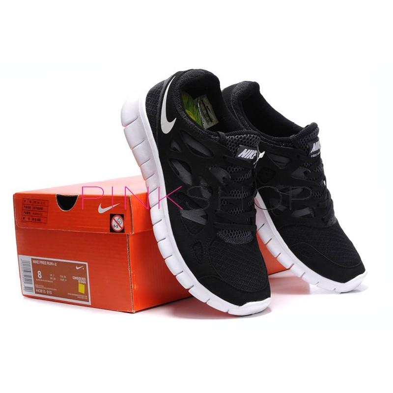 buy popular 3b4b3 2c35f Nike Free Run Plus 2 Black мужские кроссовки Найк купить в ...