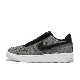 Nike Air Force 1 Low Flyknit Grey мужские кроссовки