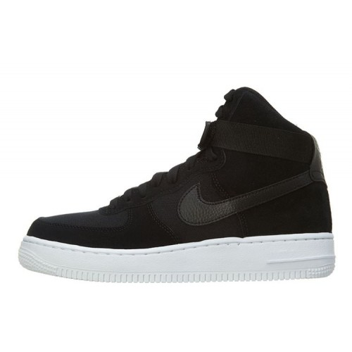 Nike Air Force 1 Mid Black White мужские кроссовки