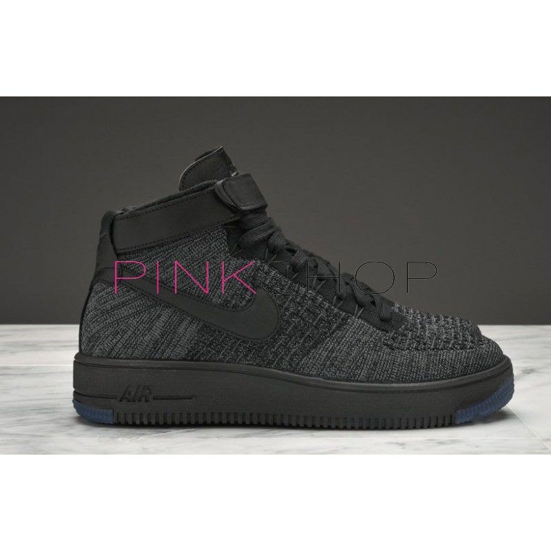 1f6560a3 Кроссовки Nike Air Force 1 Ultra Flyknit Mid Black купить мужские ...