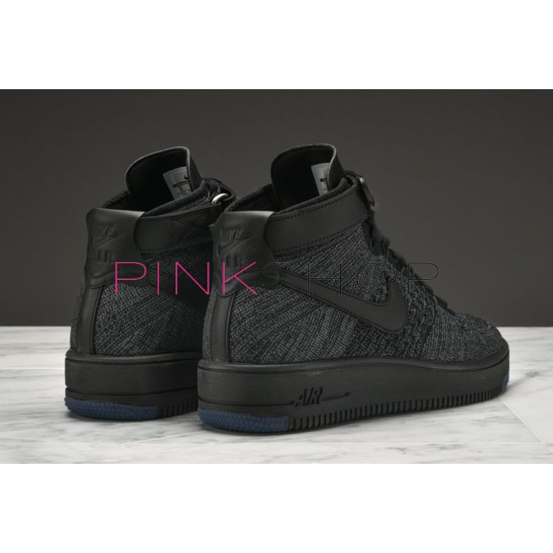 667e75c9 Кроссовки Nike Air Force 1 Ultra Flyknit Mid Black купить мужские ...