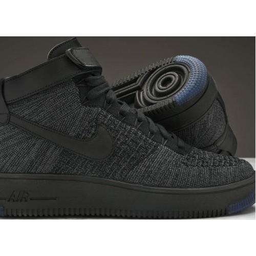 248d8cb3134f94 Кроссовки Nike Air Force 1 Ultra Flyknit Mid Black купить мужские ...