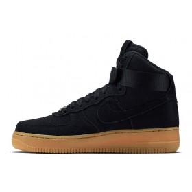 Nike Air Force High Coal Black мужские кроссовки