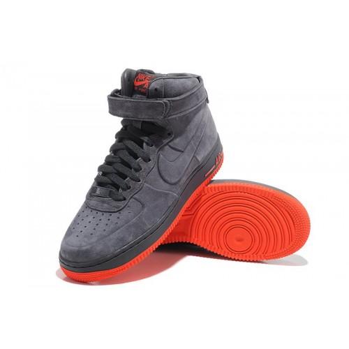 Кроссовки Nike Air Force High Suede Grey купить мужские кроссовки в ... 514d64aae60e2