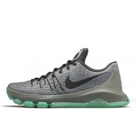Nike KD 8 Grey Black Light Blue мужские кроссовки
