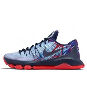 Nike KD 8 White Blue Red мужские кроссовки
