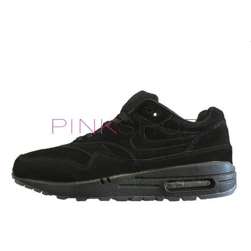 Nike Air Max 1 Essential Antifur Black мужские АирМаксы