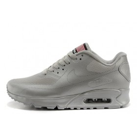 Nike Air Max 90 Hyperfuse Ash Grey USA мужские кроссовки