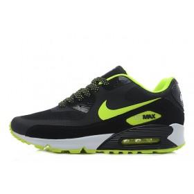 Nike Air Max 90 Hyperfuse Black Green мужские кроссовки