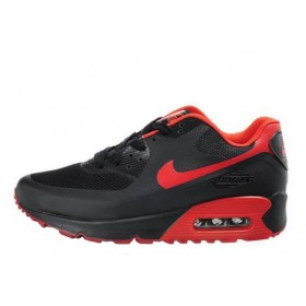 Nike Air Max 90 Hyperfuse Black Red мужские кроссовки
