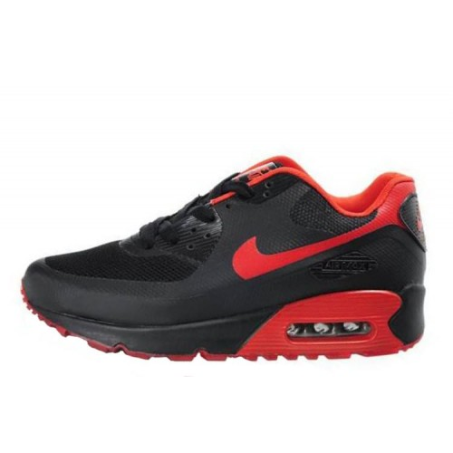 Nike Air Max 90 Hyperfuse Black Red мужские АирМаксы